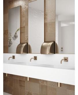 Carrelage aspect métal doré, salle de bain realglint or 44x44cm