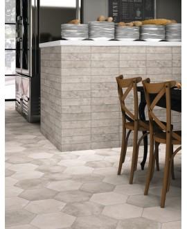 realmenphis gris et blanc au sol et realbrick gris au mur