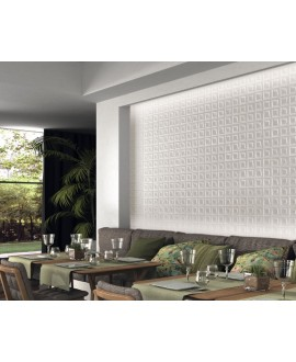 Carrelage cuisine salle de bain realframe blanc satiné 33x33cm