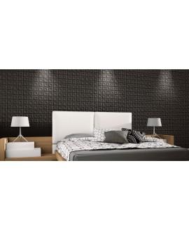 Carrelage realframe noir mat, chambre, 33x33cm