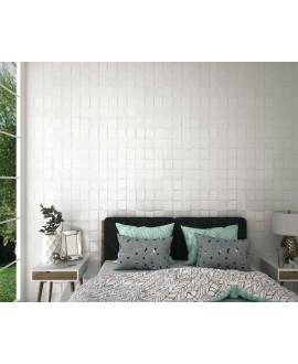Carrelage realpattern blanc satiné, décor chambre 33x33cm