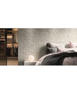 Carrelage imitation parement bois blanc mat realwoodpattern 33x33cm