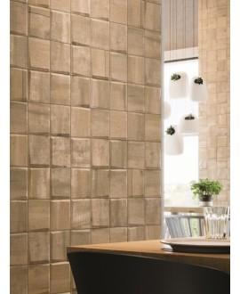 Carrelage parement cuisine salle de bain realwoodpattern camel mat 33x33cm