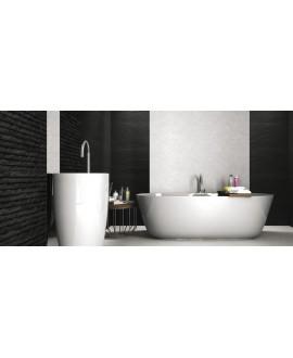 realyosemite noir, noir base, realjakarta blanc imitation pierre au mur et realopal blanc au sol