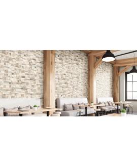 Carrelage imitation parement en bois de palette, 31x56cm, realpallet white