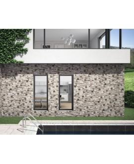 Carrelage imitation parement en bois de palette, façade, 31x56cm, realpallet gris