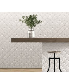 Carrelage realscale shell blanc mat 30.7x30.7cm