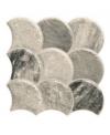 Carrelage écaille de poisson realscale stone steel mat 30.7x30.7cm