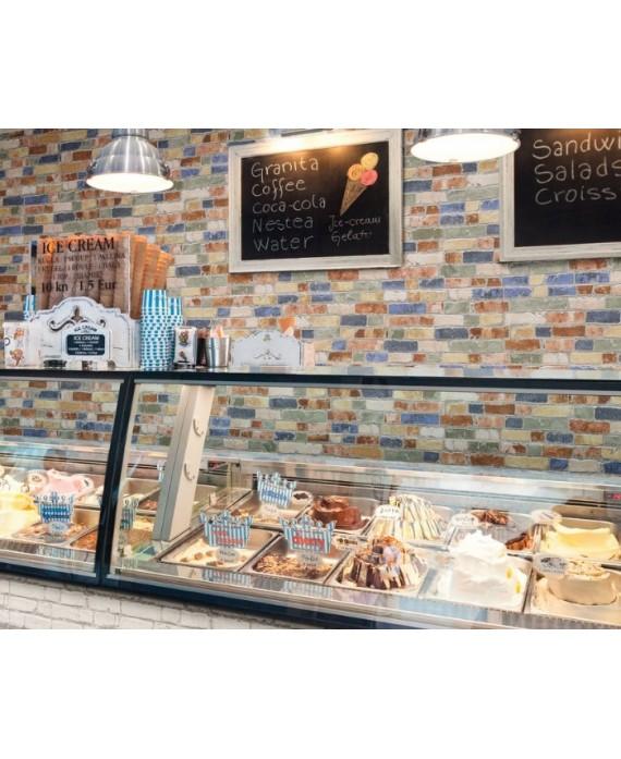 Carrelage parement imitation brique de couleur mat crédence de cuisine 31x56cm realmanhattan color