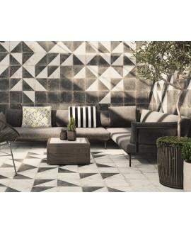 Carrelage imitation carreau ciment noir mat 33x33cm, realantique noir