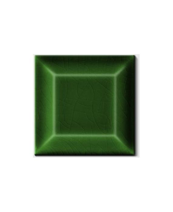 Carrelage métro D craquelé vert foncé 7.5x7.5cm