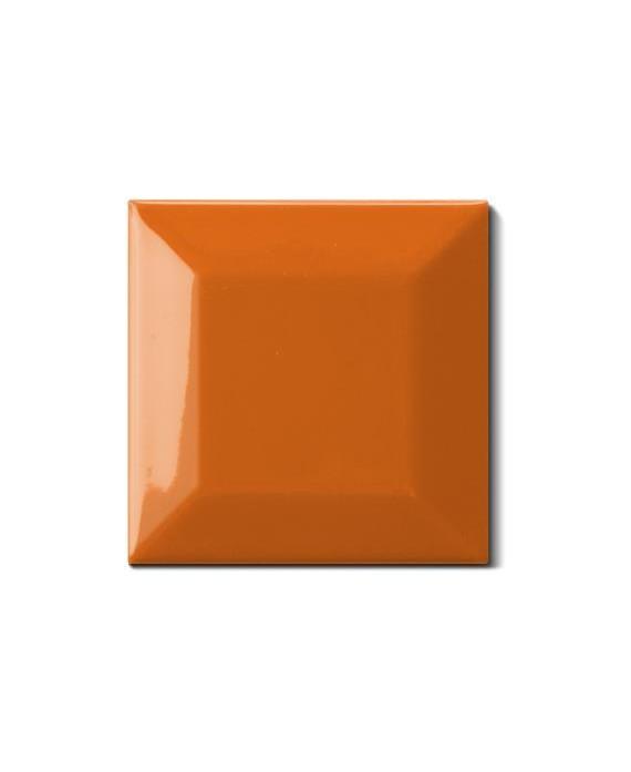 Carrelage métro D orange 7.5x7.5cm