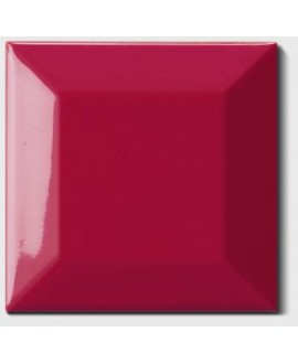 Carrelage métro D rouge vif 7.5x7.5cm