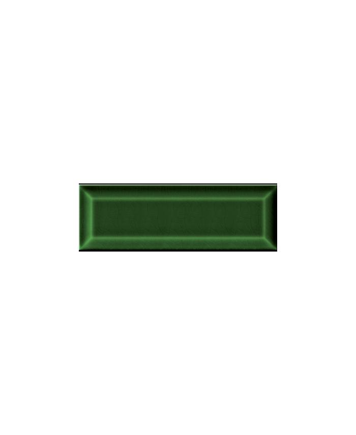 Carrelage métro D craquelé vert foncé 7.5x22cm