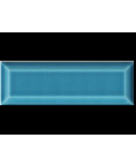 Carrelage métro D craquelé bleu chinois 7.5x22cm