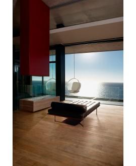 Carrelage imitation parquet contemporain intérieur, 20x120cm rectifié, santanature bisque lisse