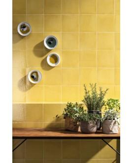 Carrelage santavita jaune brillant 20x20 cm rectifié