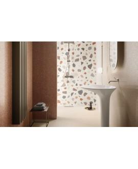 Carrelage santanewdeco palladian light brillant effet terrazzo et granito 90x90cm rectifié