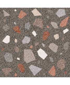 Carrelage effet terrazzo et granito 90x90cm rectifié, santanewdeco palladian dark brillant
