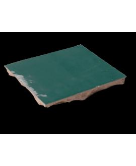 carrelage en terre cuite D zellige vert émeraude 10x10x1,1cm