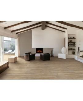 Carrelage salon effet plancher en bois de chêne cérusé miel, 20x120cm rectifié, procarinzia miele