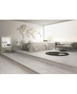 Carrelage effet plancher en bois de chêne cérusé blanc, large chambre, 30x120cm rectifié, procarinzia blanc