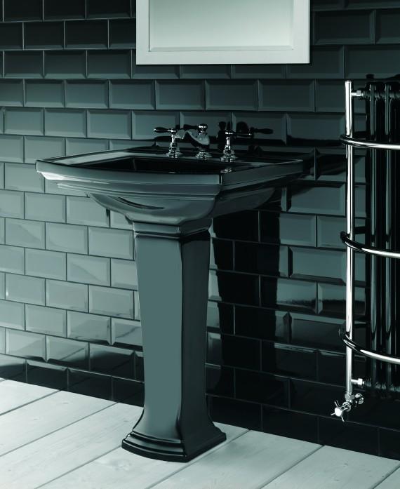 Robinet lavabo 3 trous Imp Notte ceramique noire