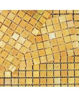 emaux de verre métalico doré 2.5x2.5 cm