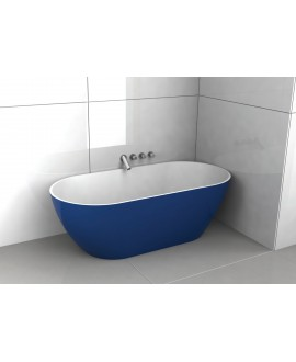 Baignoire Bilbao en ilot de couleur bleu foncé mat 170x80cm