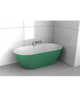 Baignoire Bilbao en ilot de couleur vert mat 170x80cm