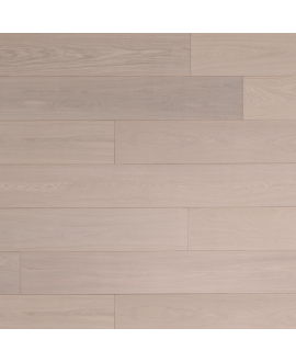 parquet contrecollé en chene huilé , largeur 190 mm , labergamo cotton white