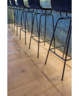 Parquet brossé profondemment à la main rustique contrecollé en chêne huilé, largeur 190 mm lalbi look unfinished