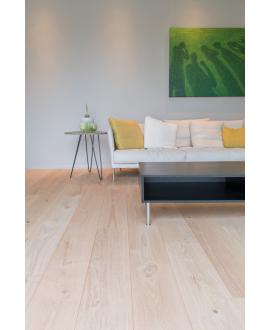 Parquet chêne extra large aspect bois brut huilé contrecollé, très grande largeur 260 mm lameribel xxl villa