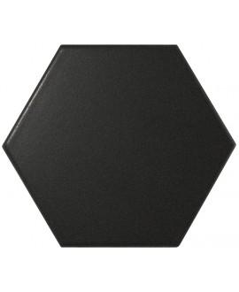 Faience hexagone Equipscale noir mat 12.4x10.7cm