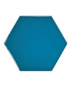 Faience hexagone Equipscale crème brillant 12.4x10.7cm