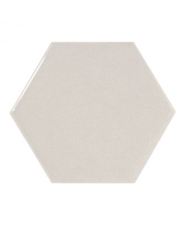 Faience hexagone Equipscale gris clair brillant 12.4x10.7cm