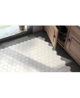 Carrelage hexagone Equipscale blanc et noir mat