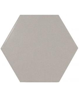 Carrelage hexagone Equipscale gris mat 12.4x10.7cm pour le sol