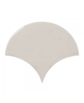 Faience écaille équipfan gris clair brillant 10.6x12cm