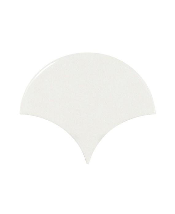 Faience écaille équipe fan blanc brillant 10.6x12cm