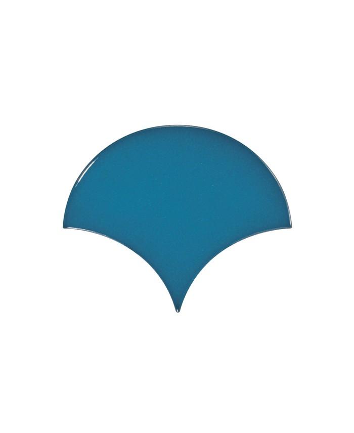 Faience écaille équipe fan bleu brillant 10.6x12cm