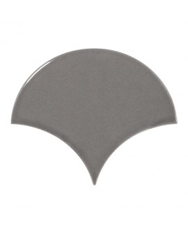 Faience écaille équipfan gris foncé brillant 10.6x12cm
