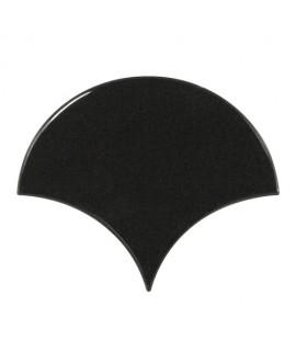 Faience écaille équipfan noir brillant 10.6x12cm