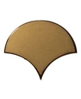 Faience écaille équipfan métal doré brillant 10.6x12cm