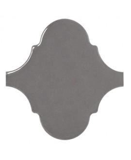 Faience arabesque equipalhambra gris foncé brillant 12x12cm
