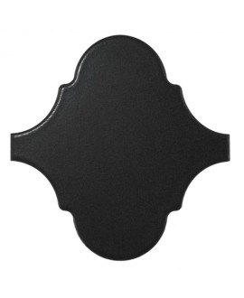 Faience arabesque equipalhambra noir mat 12x12cm