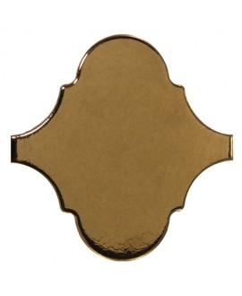 Faience arabesque equipalhambra métal doré brillant 12x12cm