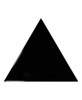Faience Equipetriangle noir brillant 10.8x12.4cm