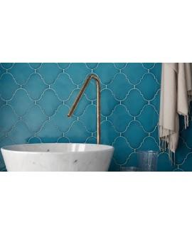 Faience arabesque equipalhambra bleu brillant 12x12cm