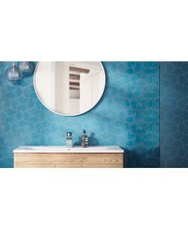 Faience écaille équipfan bleu brillant 10.6x12cm